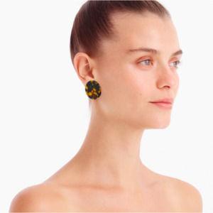 J. Crew Tortoise Disc Earrings NWT